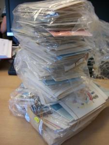Zo werden de vierhonderd kaartjes afgeleverd