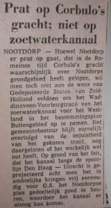 Bericht uit dagblad Het Binnenhof in 1974