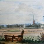 De oude kerktoren  van s-Gravenzande, zoals hij er op 5 mei 1809 nog bijstond
