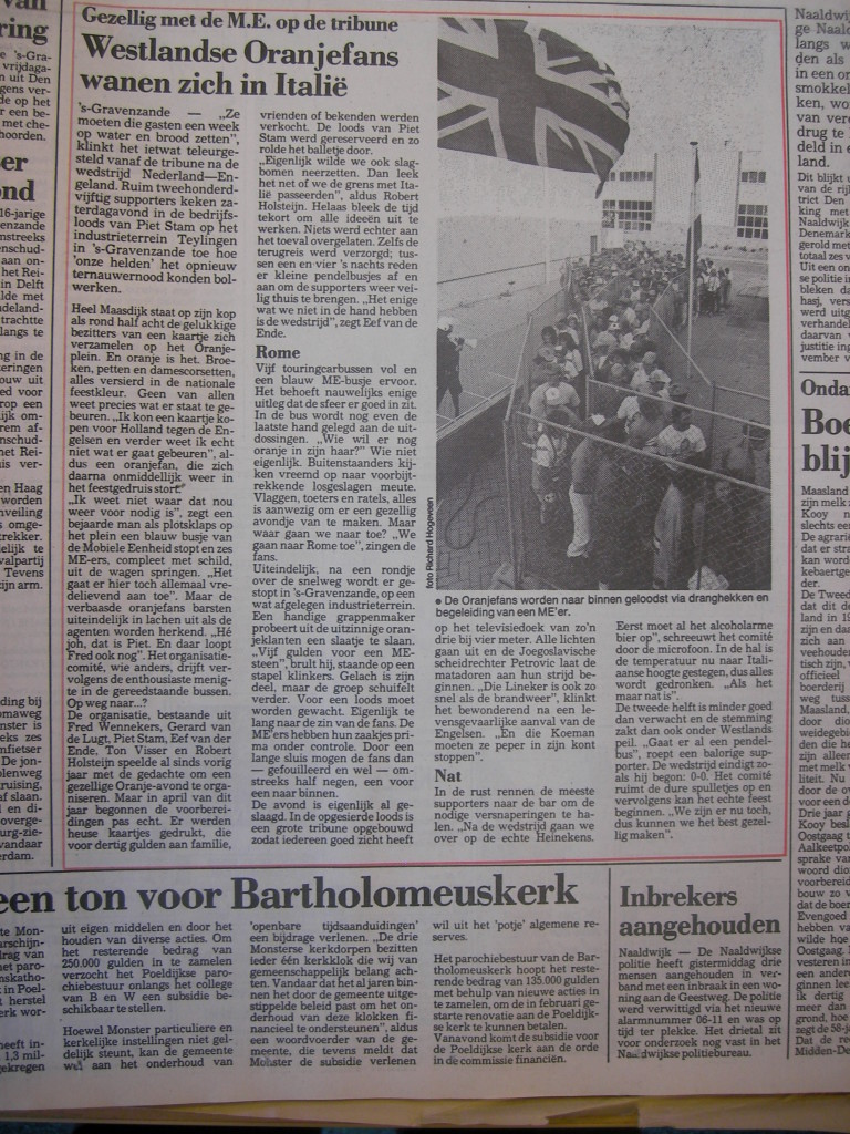 Het verslag in de Westlandsche Courant