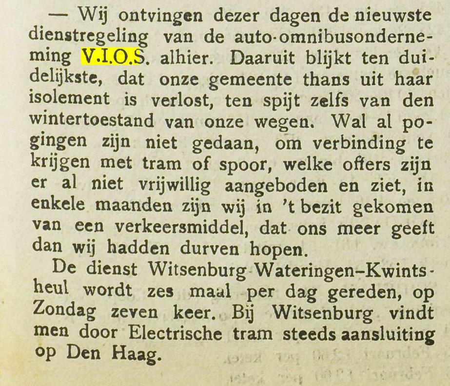 Dit bericht verscheen in 1923 in de Westlandsche Courant en spreekt voor zich...
