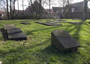 De joodse begraafplaats aan de Geestweg in Naaldwijk.