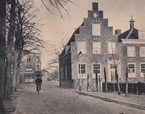 De oude pastorie op het Wilhelminaplein ,in 1935 nog geen restaurant