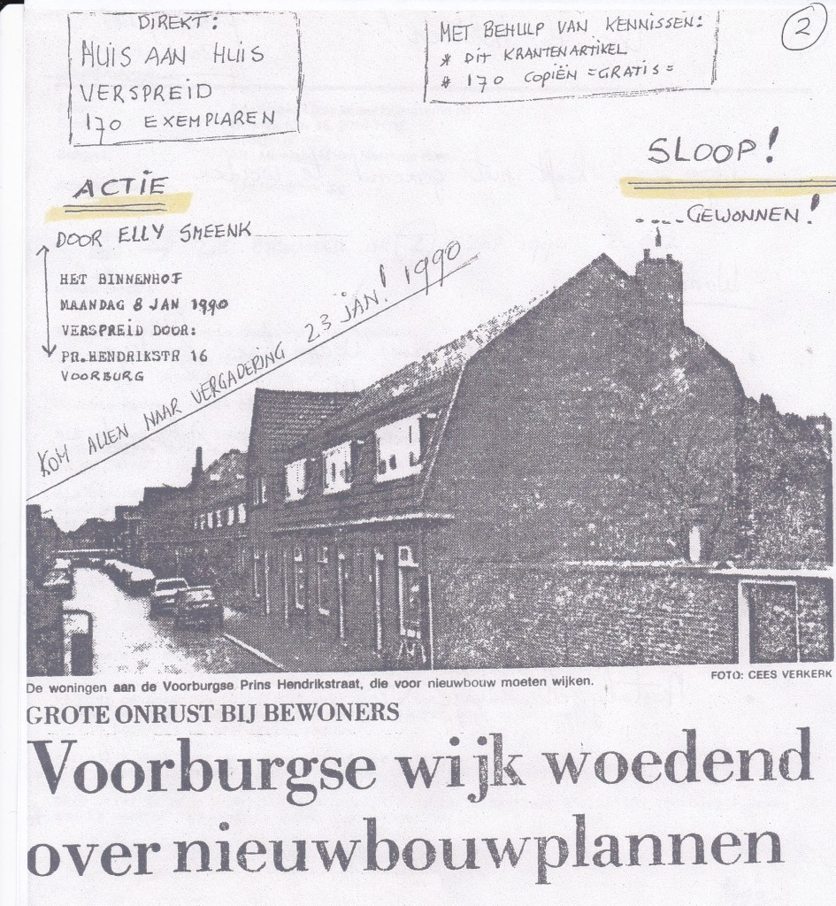 Net dit pamflet schudde de werkgroep ''Onder de St. Martinus'' de omgeving wakker.
