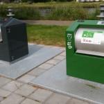 Ondergrondse vuilniscontainers hier in Rijswijk langs de Vliet.
