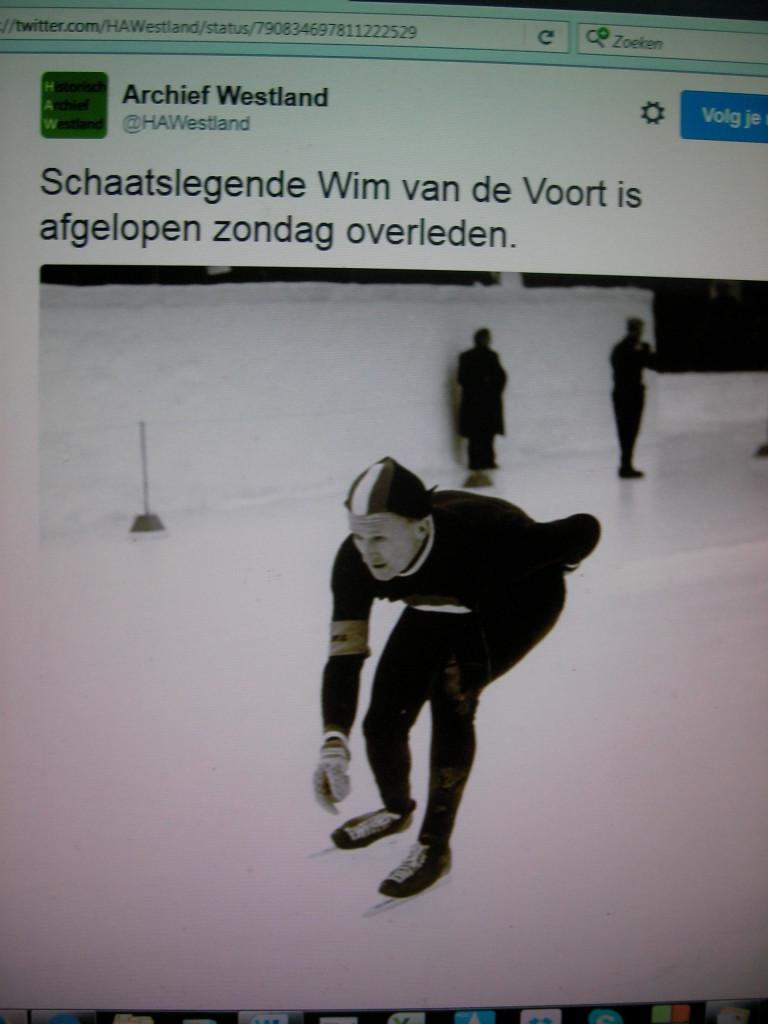 Wim van der Voort in actie